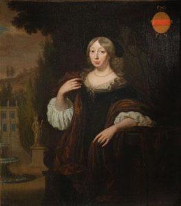 Cornelia Hunthum op een schilderij